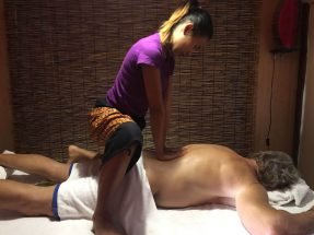 Mint back massage