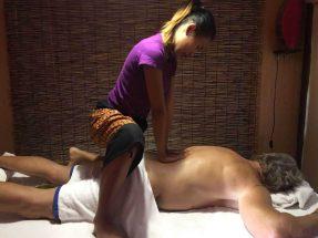 Mint back massage